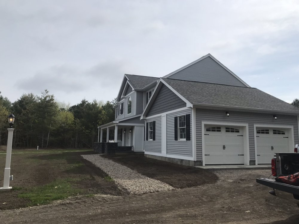 New construction home with all new security and driveway lighting