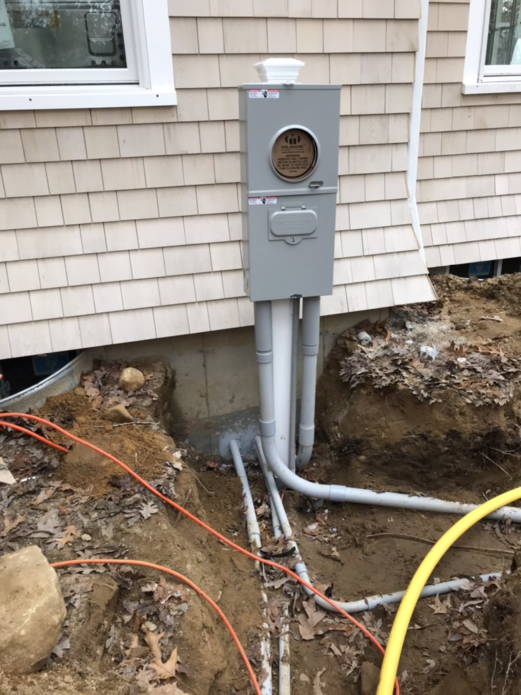 Underground electric service for new home