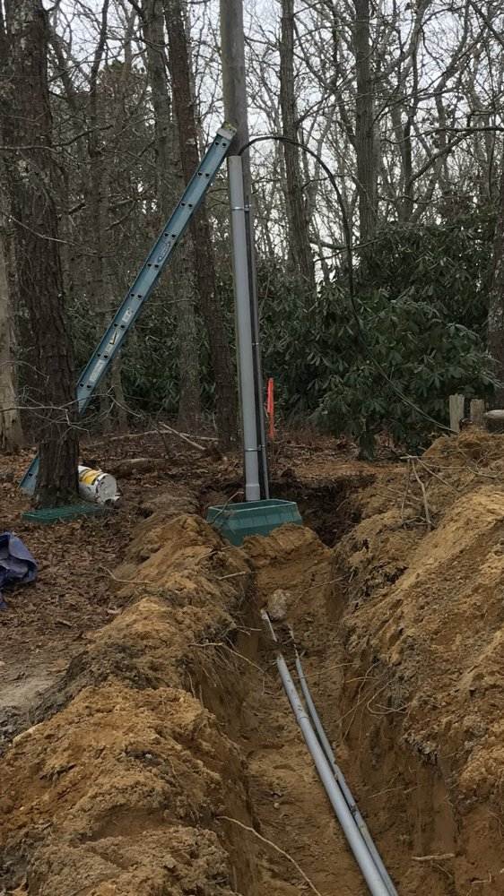 Underground electrical service for new home